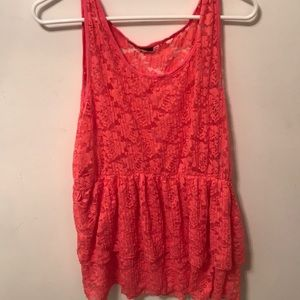 PLUS SIZE SHEER LACE TANK